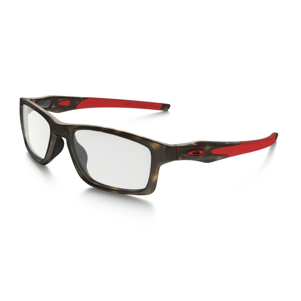 e8b95bf3e2 Oakley Crosslink Prescription Frame 53mm Matte Brown Tortoise OX8090-0853