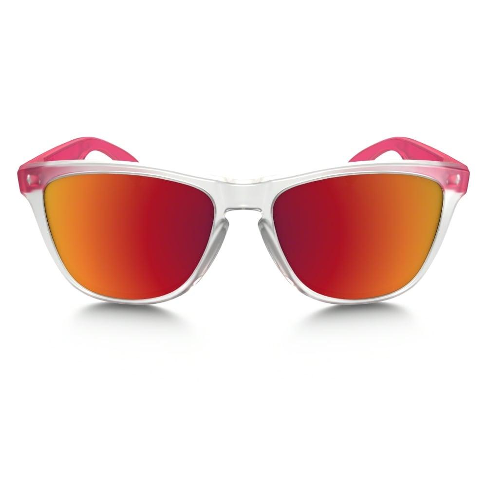 Oakley Neon Yellow Frogskin Sunglasses  oakley frogskins sunglasses matte clear oo9013 b3
