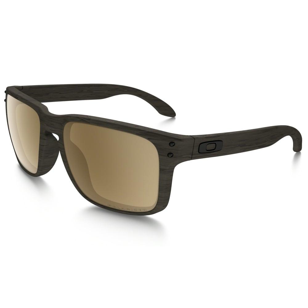 9c51c9fca3 Polarized Oakley Holbrook Sunglasses Woodgrain OO9102-A3