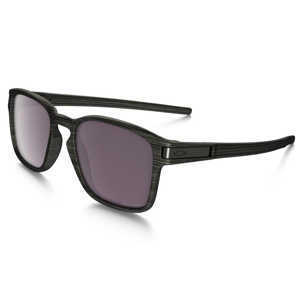 9b4381dce2 Polarized Oakley Prizm Latch Squared Sunglasses Woodgrain OO9353-10