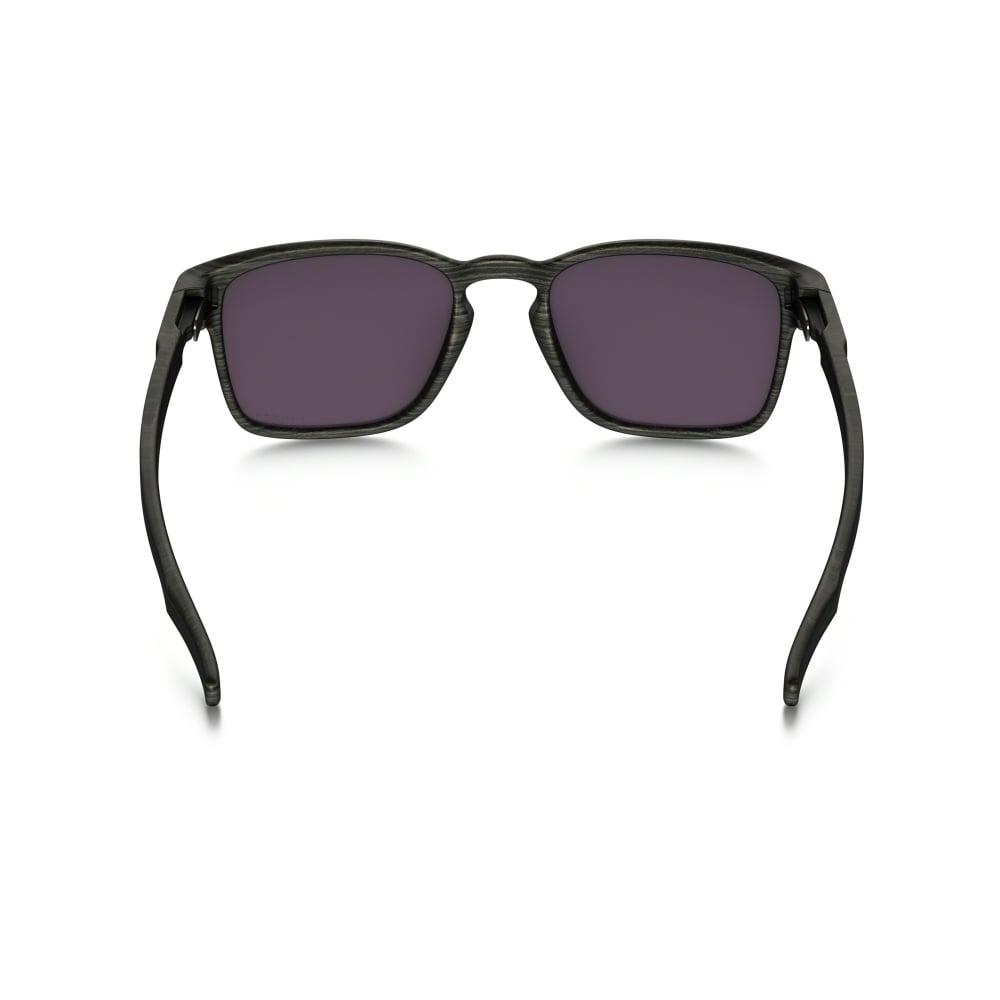 37e723e6ef Polarized Oakley Prizm Latch Squared Sunglasses Woodgrain OO9353-10