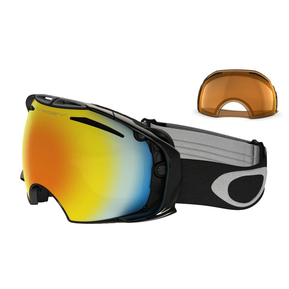5c9be7ab7bf67 Oakley Airbrake Snow Goggles Jet Black OO7037-30
