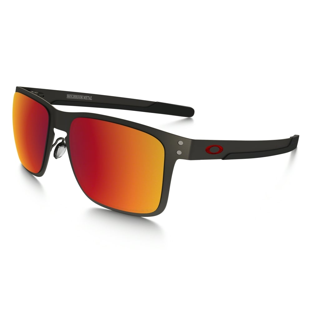 ccd0bf675a0 Polarized Oakley Holbrook Metal Sunglasses Matte Gunmetal OO4123-05