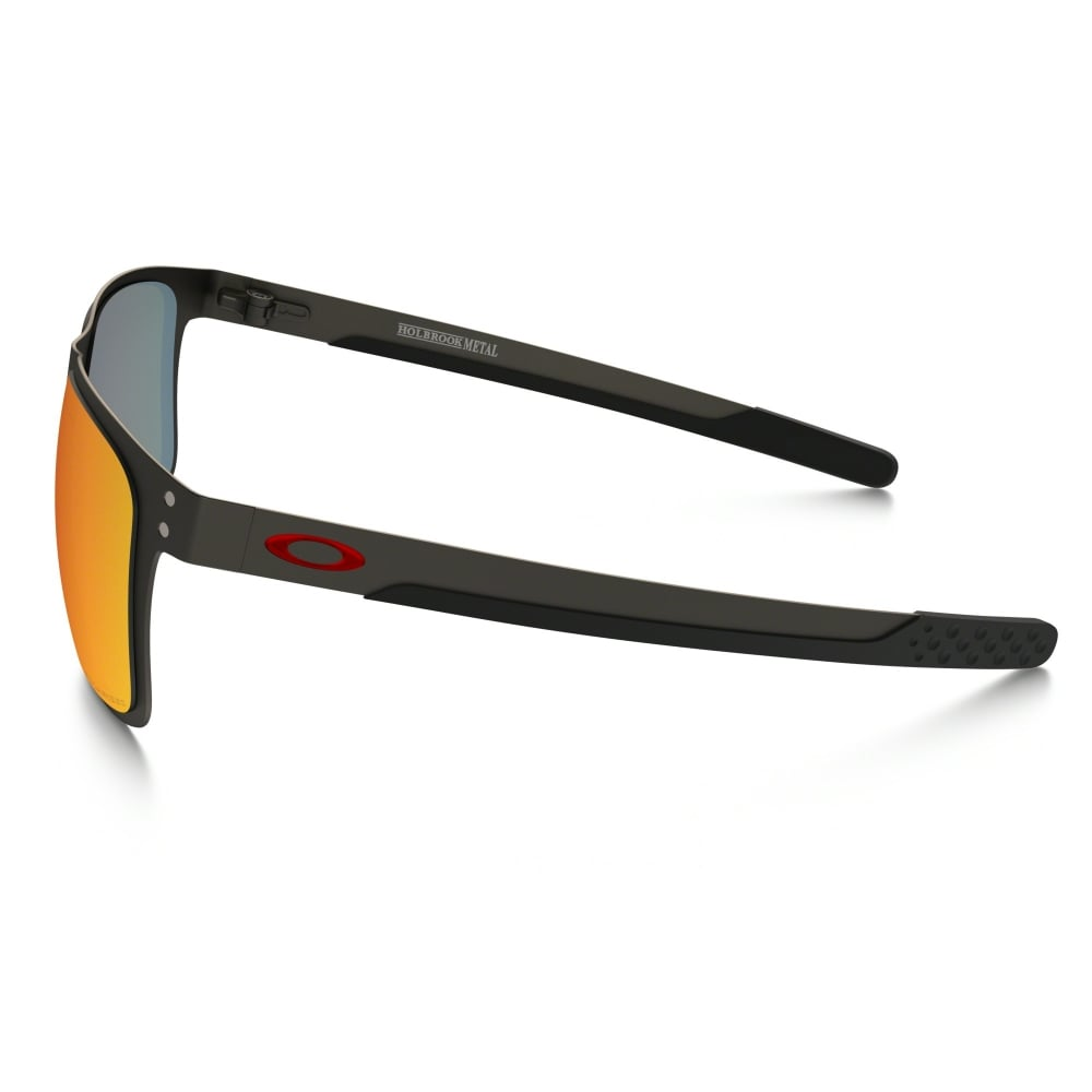 43b505303 Polarized Oakley Holbrook Metal Sunglasses Matte Gunmetal OO4123-05