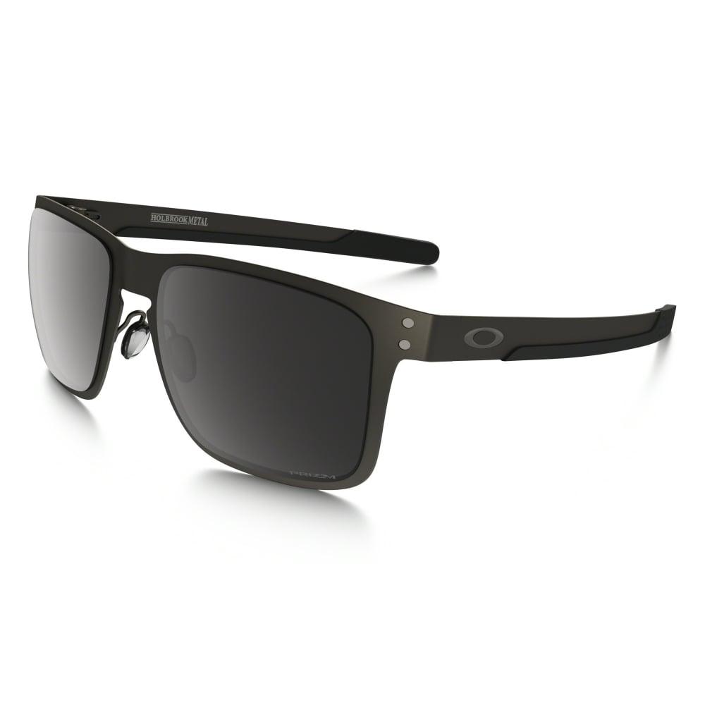 Polarized Oakley Prizm Holbrook Metal Sunglasses Matte Gunmetal OO4123-06 e8b8b53540b