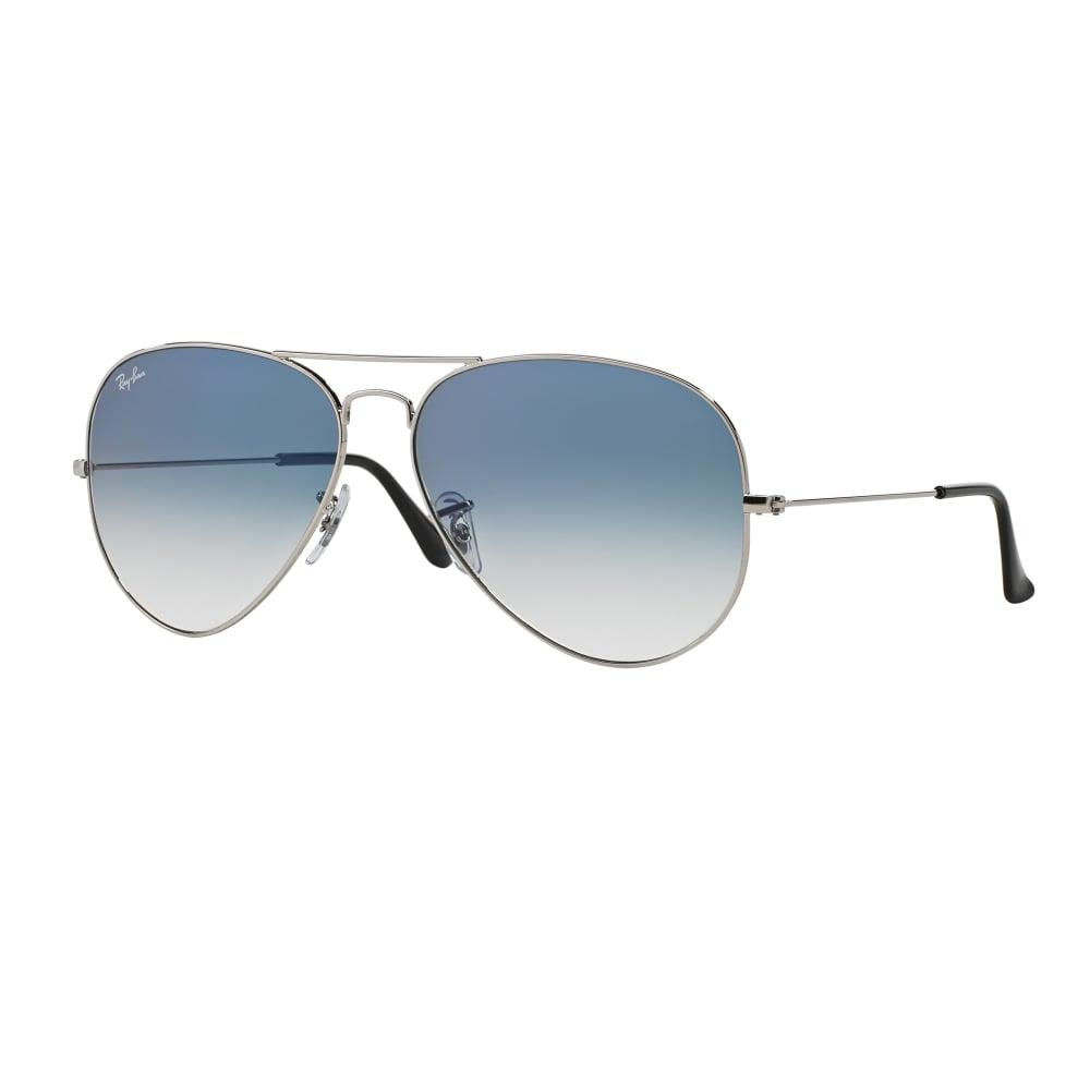 9e16c4ee85a6c0 Ray-Ban Aviator Sunglasses Silver RB3025 003 3F Small