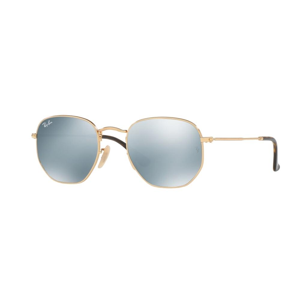 37a7c4cb1c Ray-Ban Hexagonal Flat Lenses Sunglasses Gold RB3548N 001 30