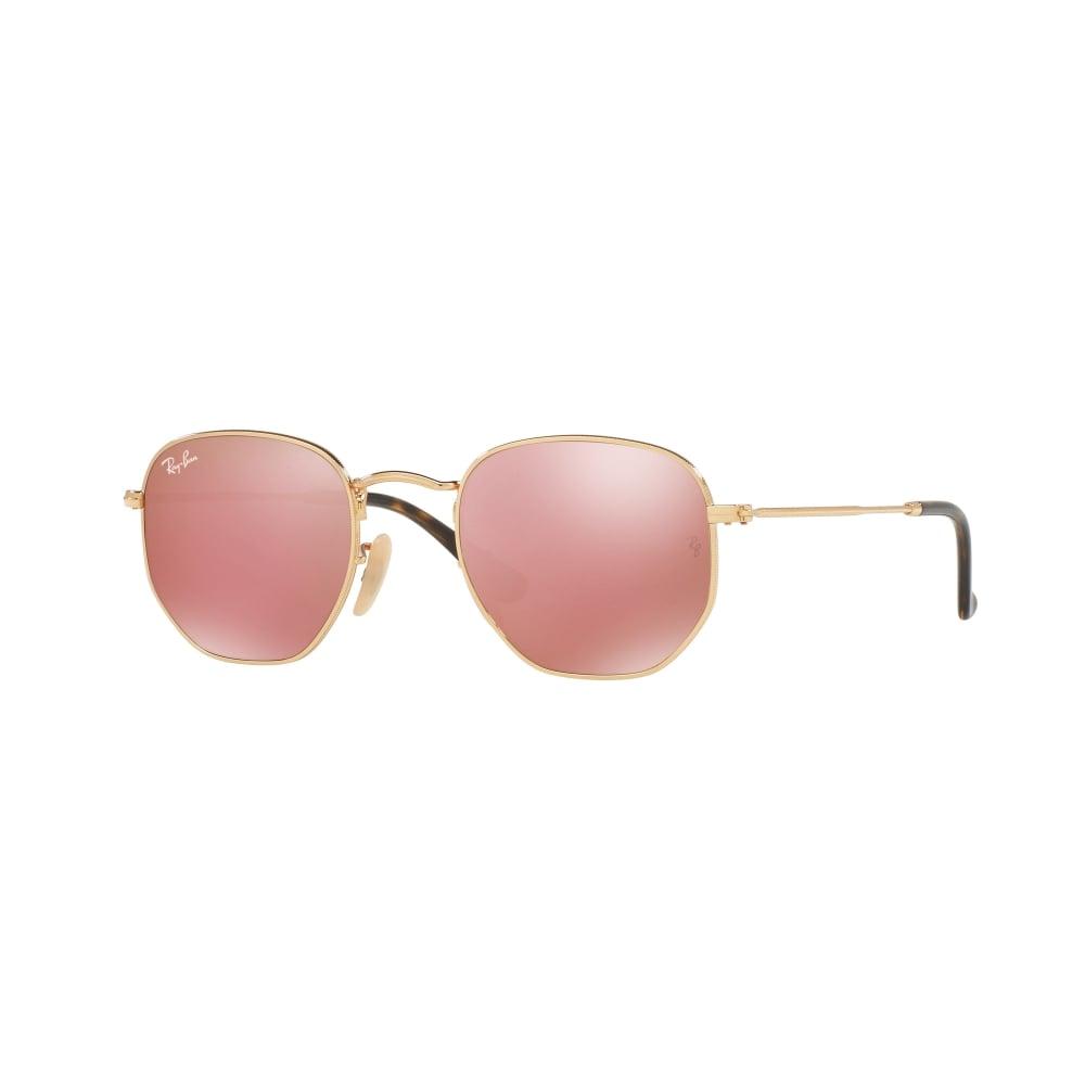 ef41c4b3865 Ray-Ban Hexagonal Flat Lenses Sunglasses Gold RB3548N 001 Z2