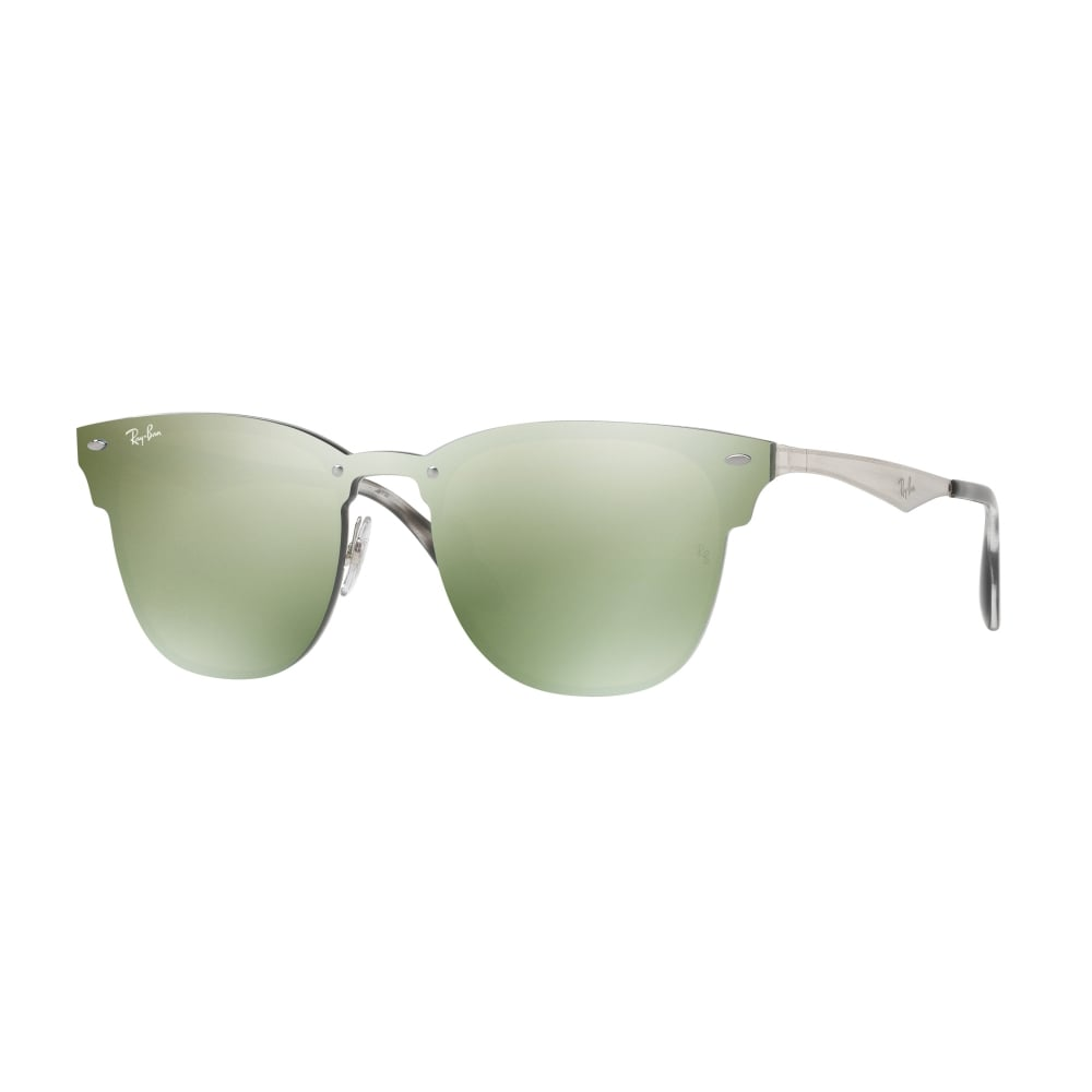 Ray-Ban Blaze Clubmaster Sunglasses Silver RB3576N 042/30