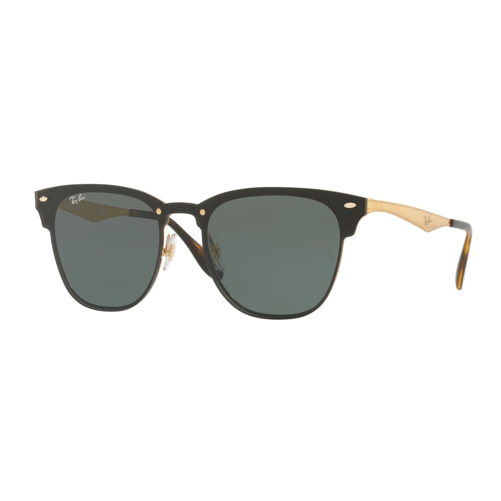 a32d7f6cd3 Ray-Ban Blaze Clubmaster Sunglasses Gold RB3576N 043 71