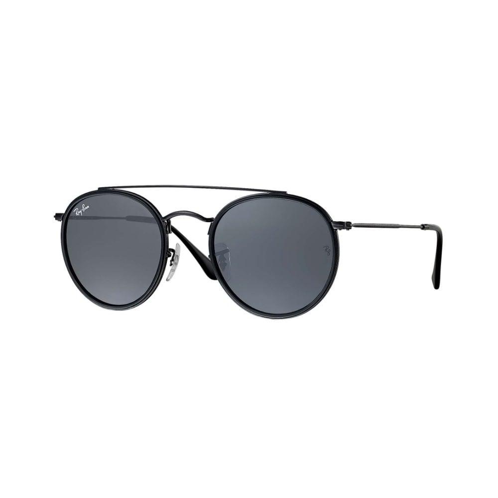 ray ban round double bridge sunglasses black rb3647n 002 r5. Black Bedroom Furniture Sets. Home Design Ideas