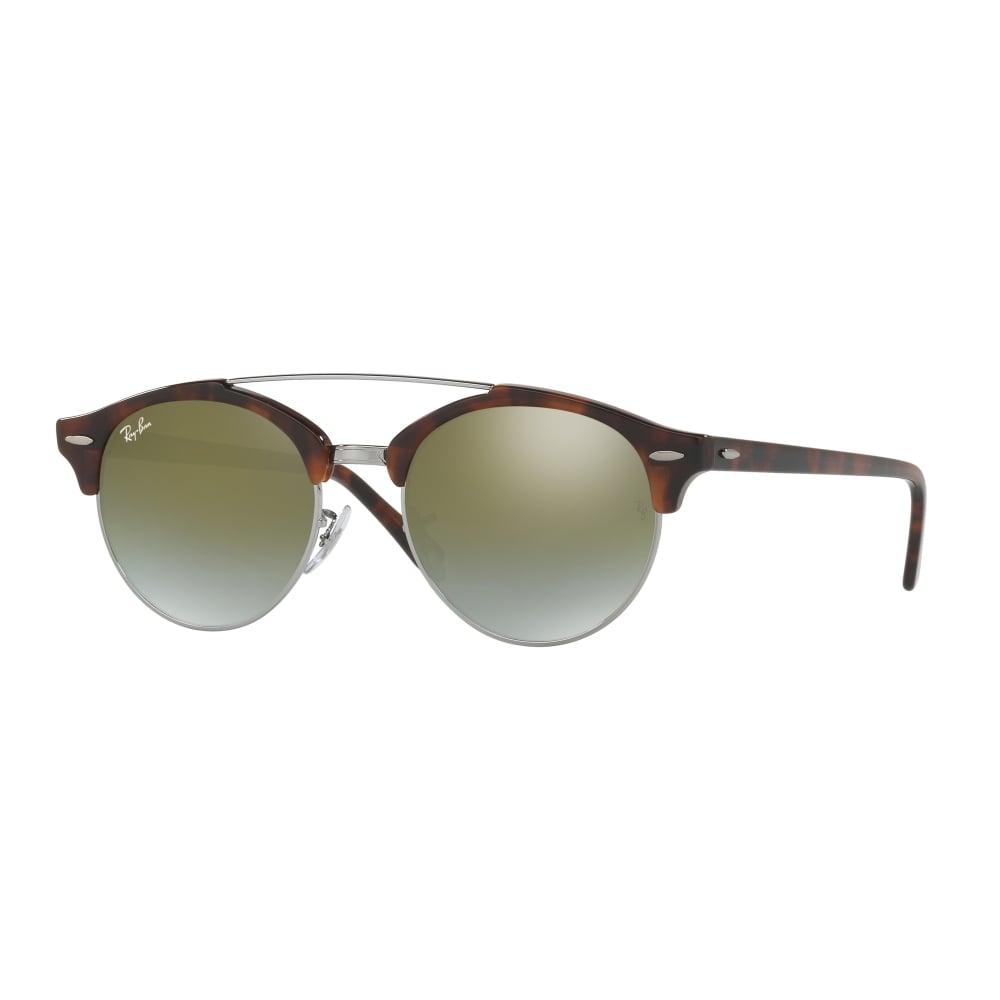 ede68e9f672 Ray-Ban Clubround Double Bridge Sunglasses Tortoise RB4346 62519J