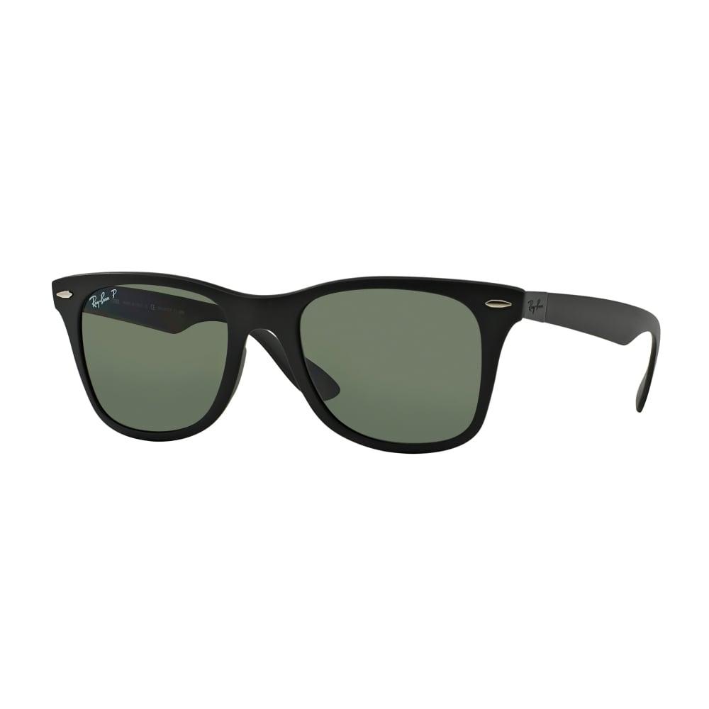 156530fbb11 Polarized Ray-Ban Wayfarer Liteforce Sunglasses Black RB4195 601S9A