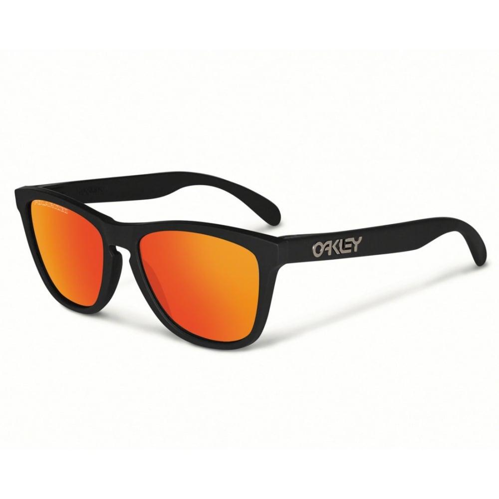 12345662e4 Polarized Oakley Frogskins Sunglasses Matte Black 24-402