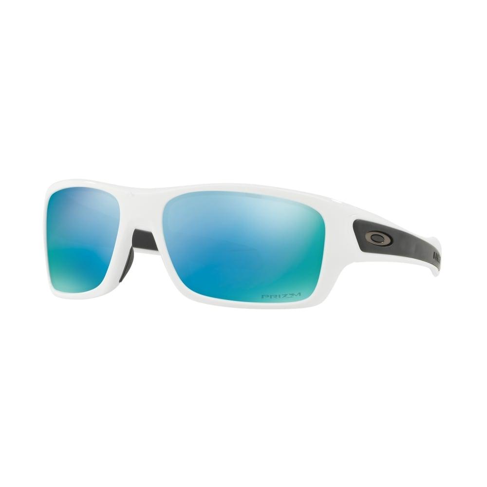 5341a3025d Polarized Oakley Prizm Youth Turbine XS Sunglasses Polished White OJ9003-07