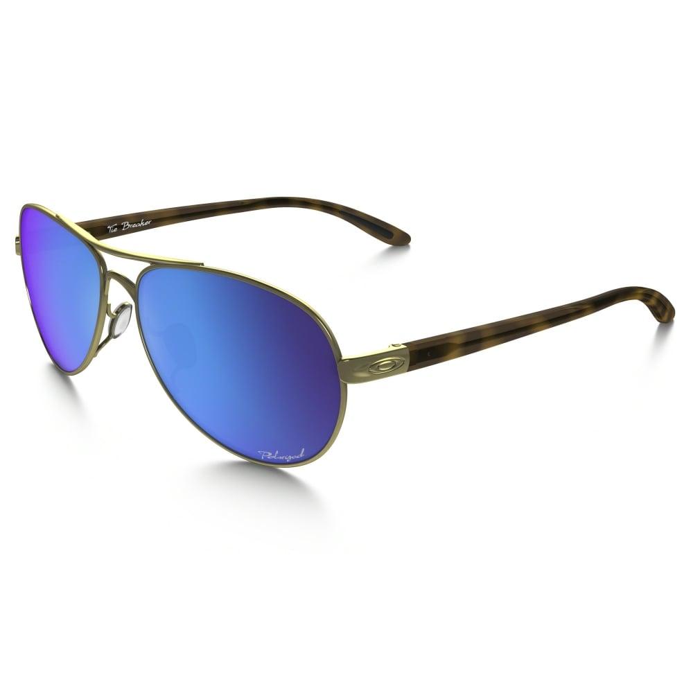 8f01fbc8d74 Polarized Oakley Womens Tie Breaker Sunglasses Polished Gold OO4108-15
