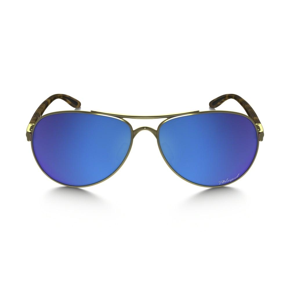 a90b6bdce1a Polarized Oakley Womens Tie Breaker Sunglasses Polished Gold OO4108-15