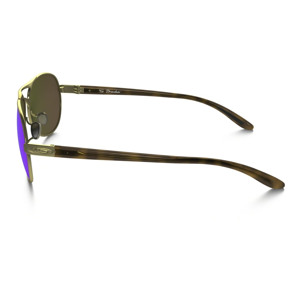 c28ced41b5 Polarized Oakley Womens Tie Breaker Sunglasses Polished Gold OO4108-15