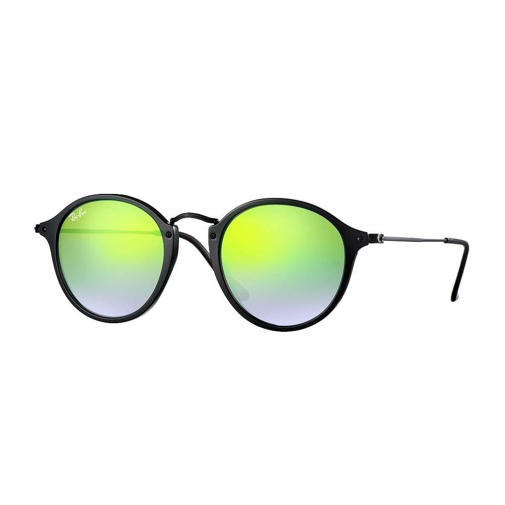 43856eb4f889e Ray-Ban Round Fleck Sunglasses Black RB2447 901 4J