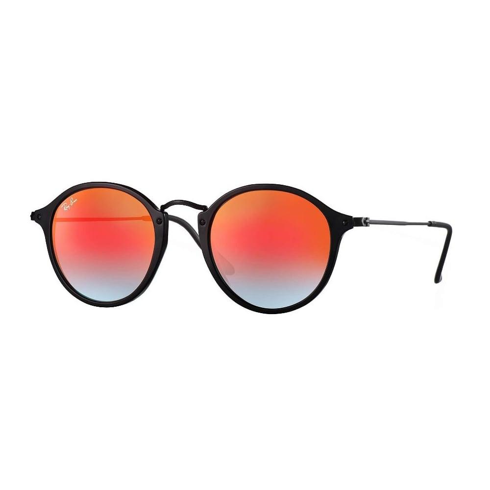 97e8200634dca Ray-Ban Round Fleck Sunglasses Black RB2447 901 4W