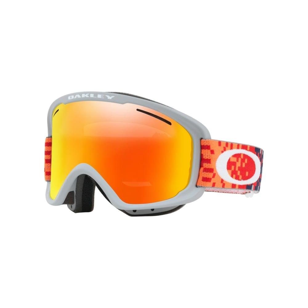 8b474c200c0 Oakley O2 XM Snow Goggles Pixel Fade Red Fathom OO7066-43