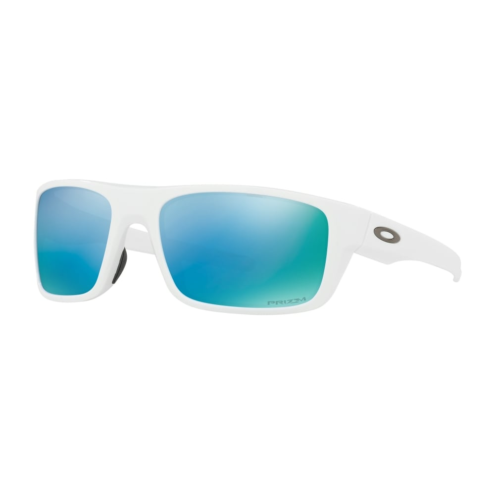 880190c1677 Polarized Oakley Prizm Drop Point Sunglasses Polished White OO9367-14