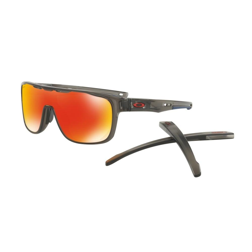 cc6690c01 Oakley Prizm Crossrange Shield Sunglasses Matte Grey Smoke OO9387-04