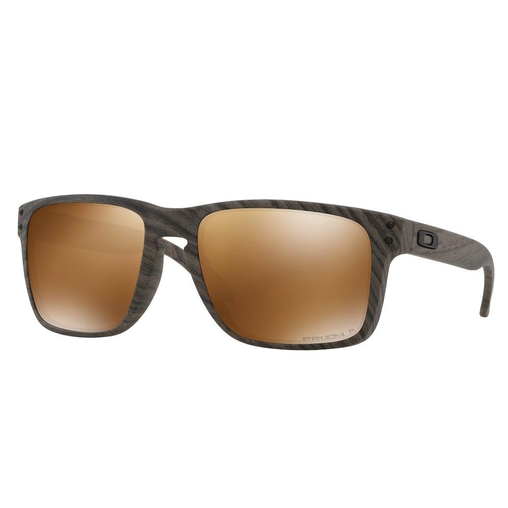 fe30df3dbc Polarized Oakley Prizm Holbrook XL Sunglasses Woodgrain OO9417-06