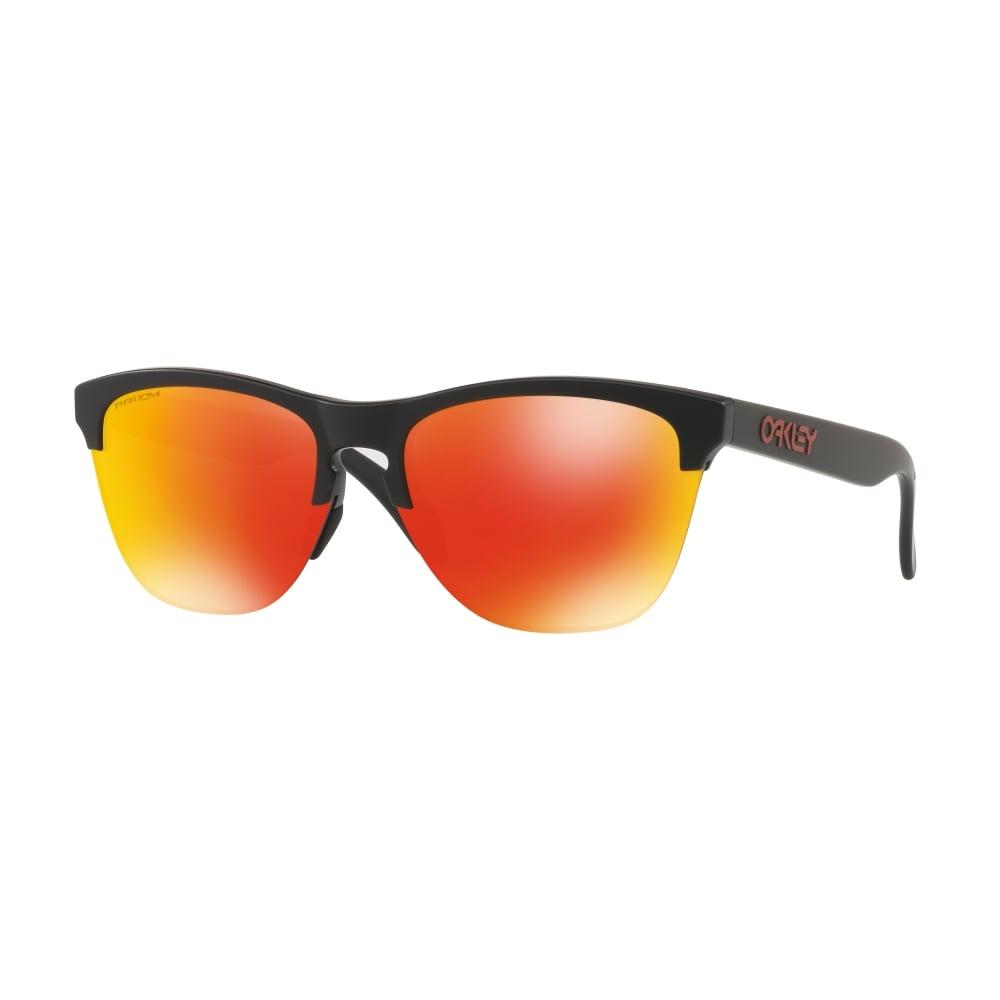 ff4c42700bb Oakley Prizm Frogskins Lite Sunglassses Matte Black OO9374-04