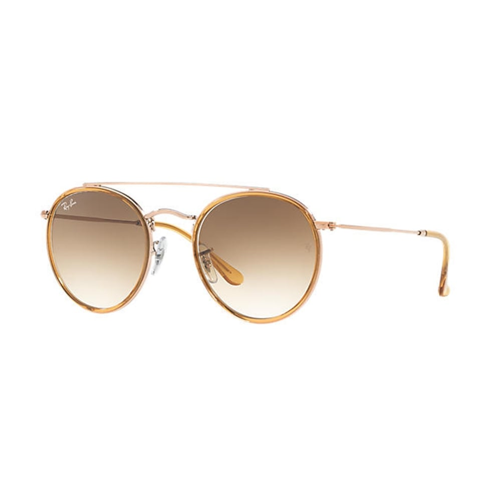 Ray-Ban Round Double Bridge Sunglasses Copper RB3647N 907051 b46fcdcc6a