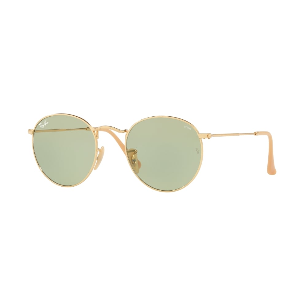 b0fb0b5bd4 Ray-Ban Round Evolve Sunglasses Gold RB3447 90644C