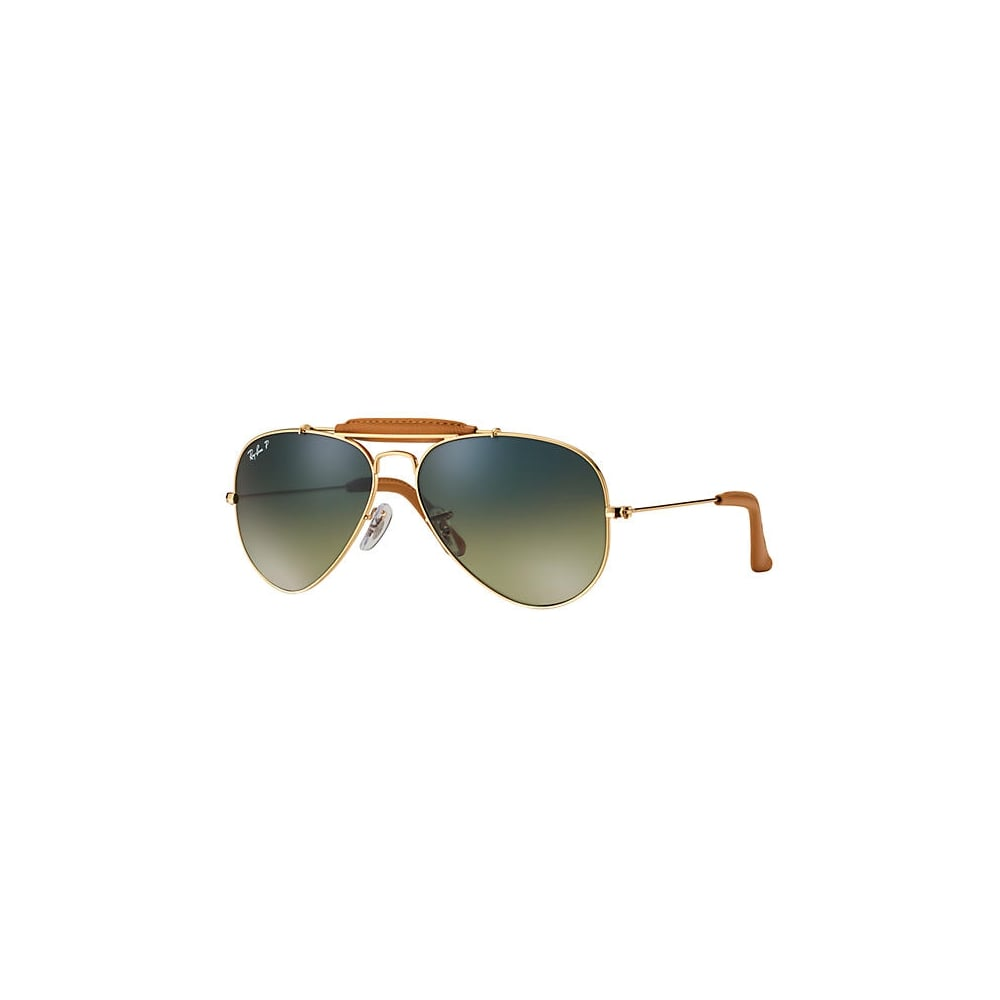 9158811972 Polarized Ray-Ban Outdoorsman Craft Sunglasses Gold RB3422Q 001 M9