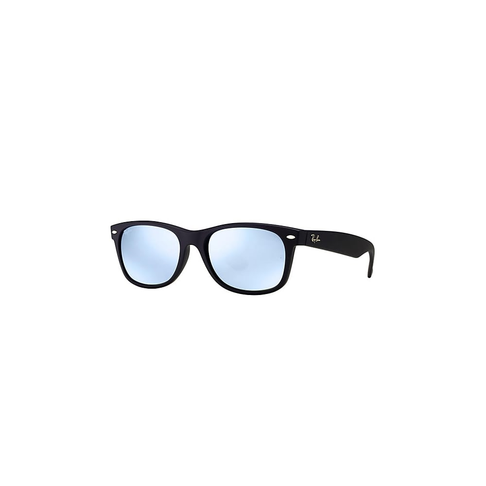 2b9203af33a Ray-Ban New Wayfarer Sunglasses Black Rubber RB2132 622 30 Large