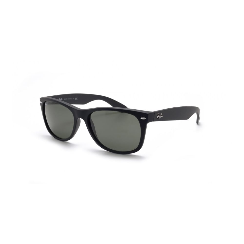 2b6f00eacd Polarized Ray-Ban New Wayfarer Sunglasses Black Rubber RB2132 622 58 ...