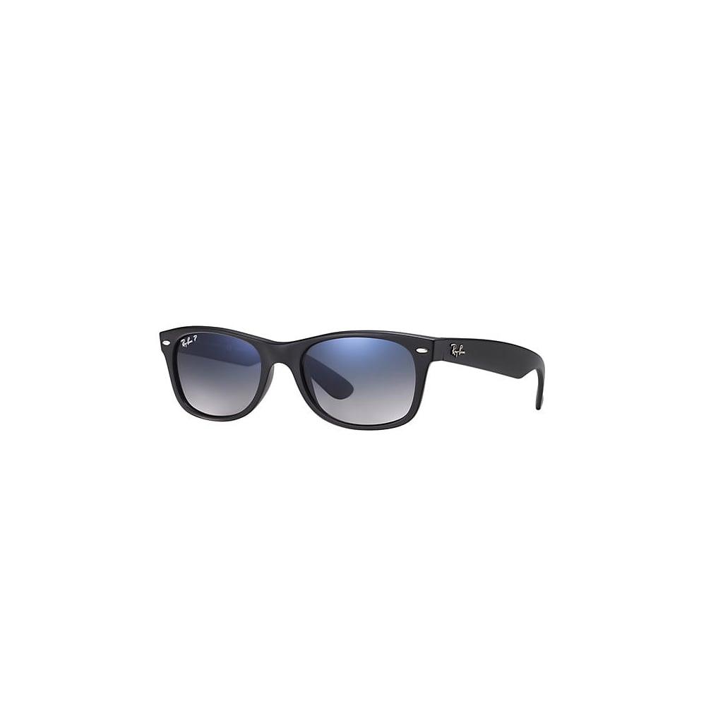 b5d50ce227f Polarized Ray-Ban New Wayfarer Sunglasses Matte Black RB2132 601S78 ...
