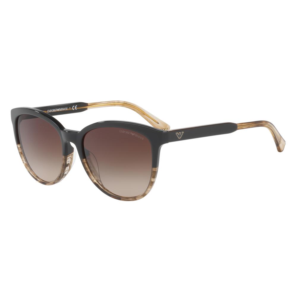 1ce97c09eba Emporio Armani Women s EA4101 Sunglasses Brown Tr Striped Beige EA4101  556713