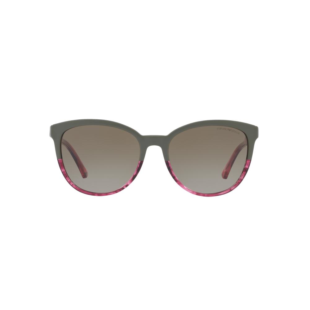6ec53bcbbd Emporio Armani Women s EA4101 Sunglasses Military Tr Striped Pink ...