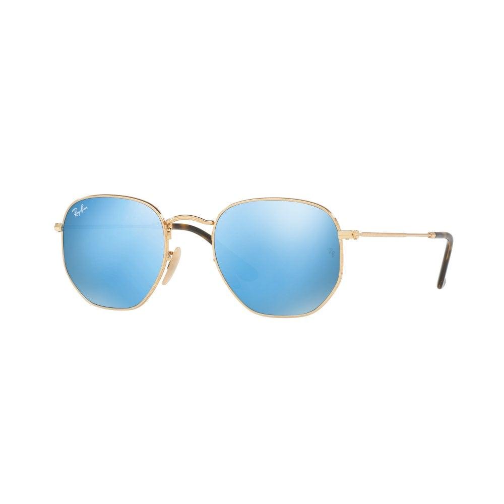 881e25ed86e Ray-Ban Hexagonal Flat Lenses Sunglasses Gold RB3548N 001 9O