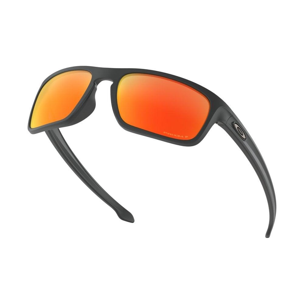 6ee3874b09e03 Polarized Oakley Prizm Sliver Stealth Sunglasses Matte Black OO9408-06