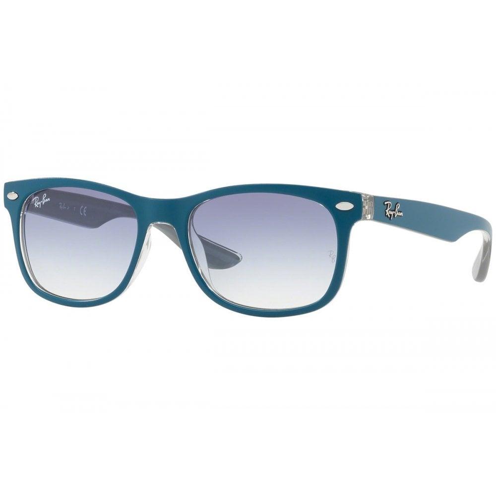 82fdadf3f762f Ray-Ban New Wayfarer Junior Sunglasses Blue RJ9052S 703419 Large