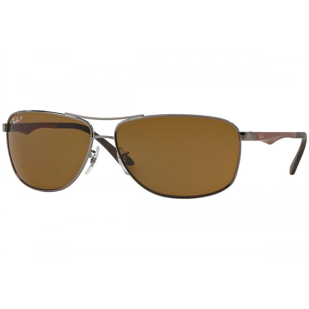 565c3cf2801f Ray-Ban RB3506 Sunglasses Gunmetal Brown RB3506 132 83