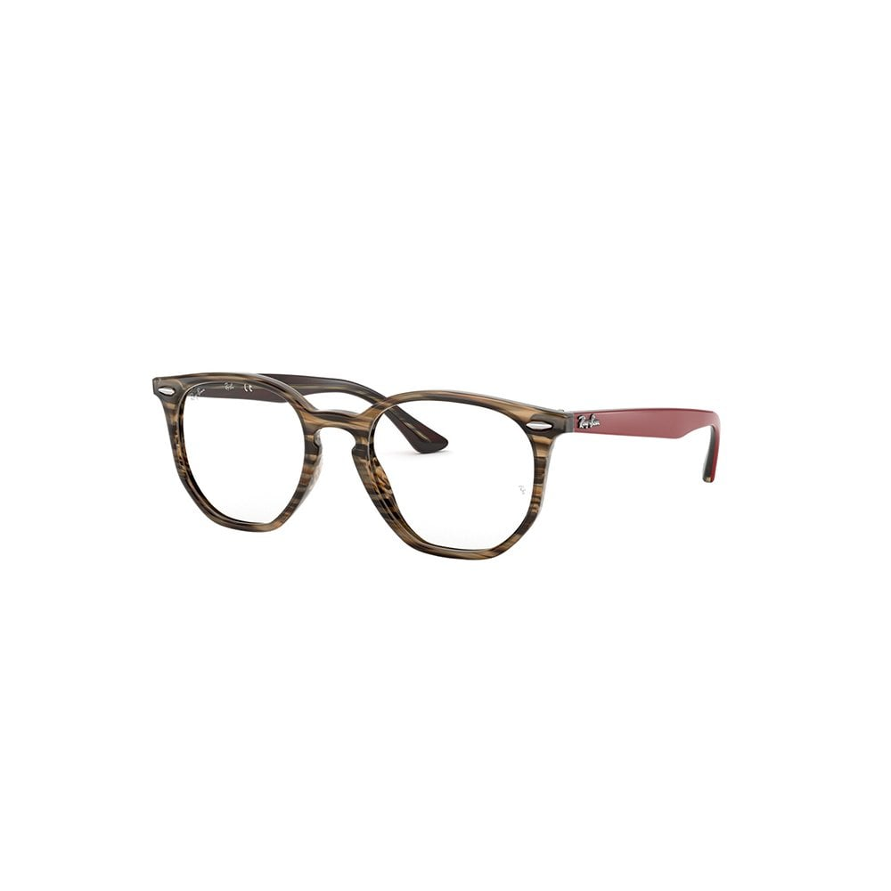 205354aaae Ray-Ban Hexagonal Optics Prescription Glasses Brown Red RB7151 5802