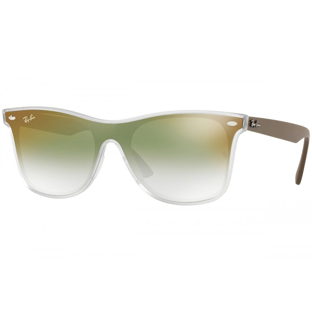 fa852a0336 Ray-Ban Blaze Wayfarer Sunglasses Transparent Green RB4440N 6358W0