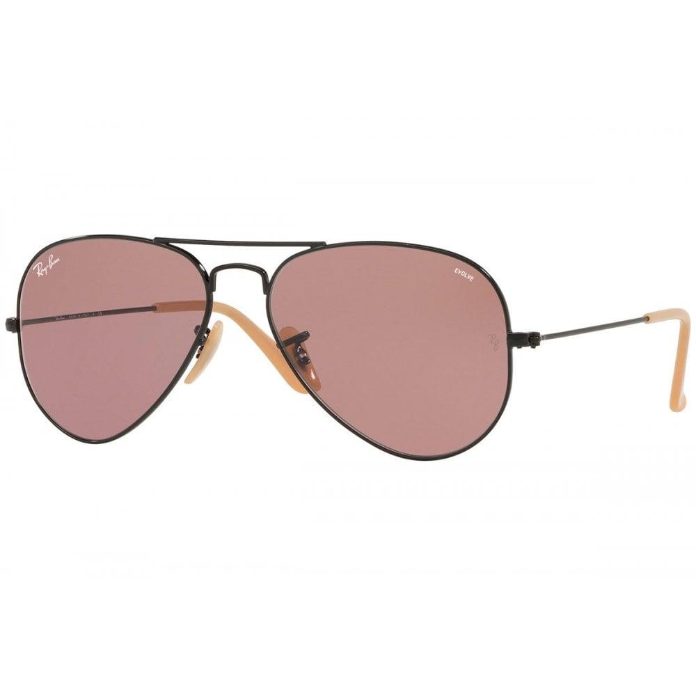 18d0f361516bf Ray-Ban Aviator Evolve Sunglasses Black RB3025 9066Z0