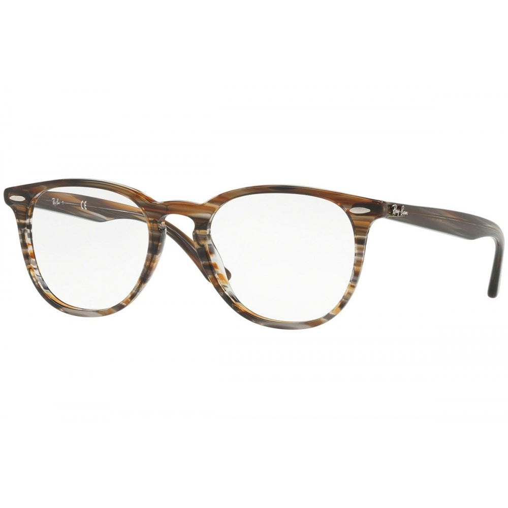 af4af5e1e4d Ray-Ban RB7159 Prescription Frame 52mm Brown Grey Striped RB7159 5749 50