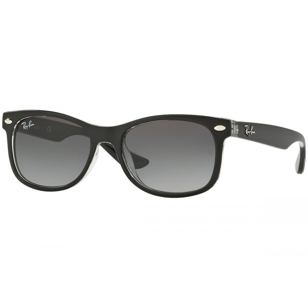 Ray-Ban New Wayfarer Junior Sunglasses Matte Black On Trasparent ... 17e4f3058a