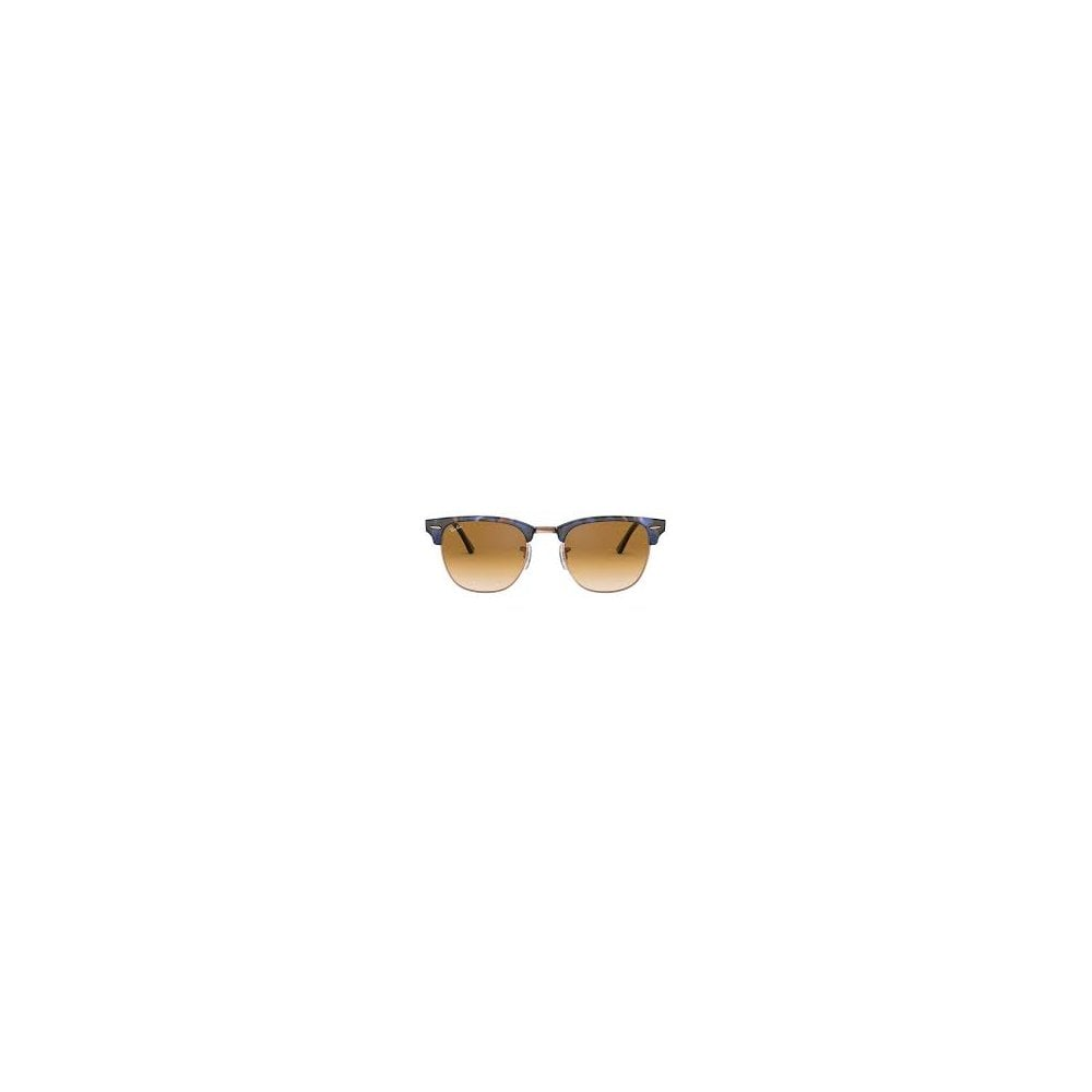 e68373d561 Ray-Ban Clubmaster Fleck Sunglasses Spotted Brown Blue RB3016 125651