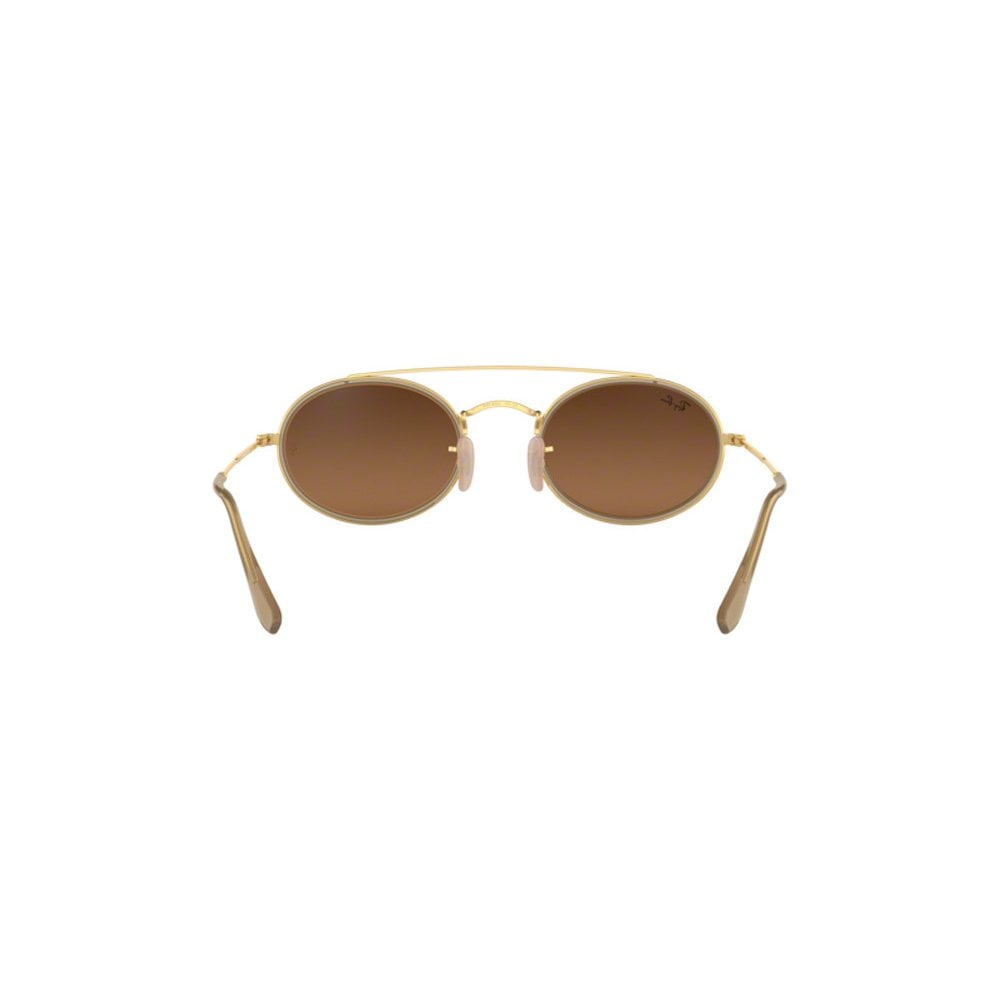 42cafd19c5 Ray-Ban Oval Double Bridge Sunglasses Gold RB3847N 912443