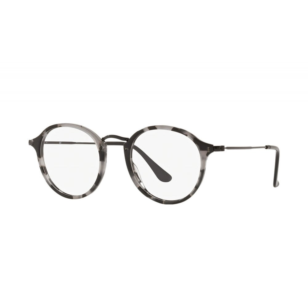 8f3c82504 Ray-Ban RX2447V Round Fleck Prescription Frames Grey Havana 49mm RB2447V  5833
