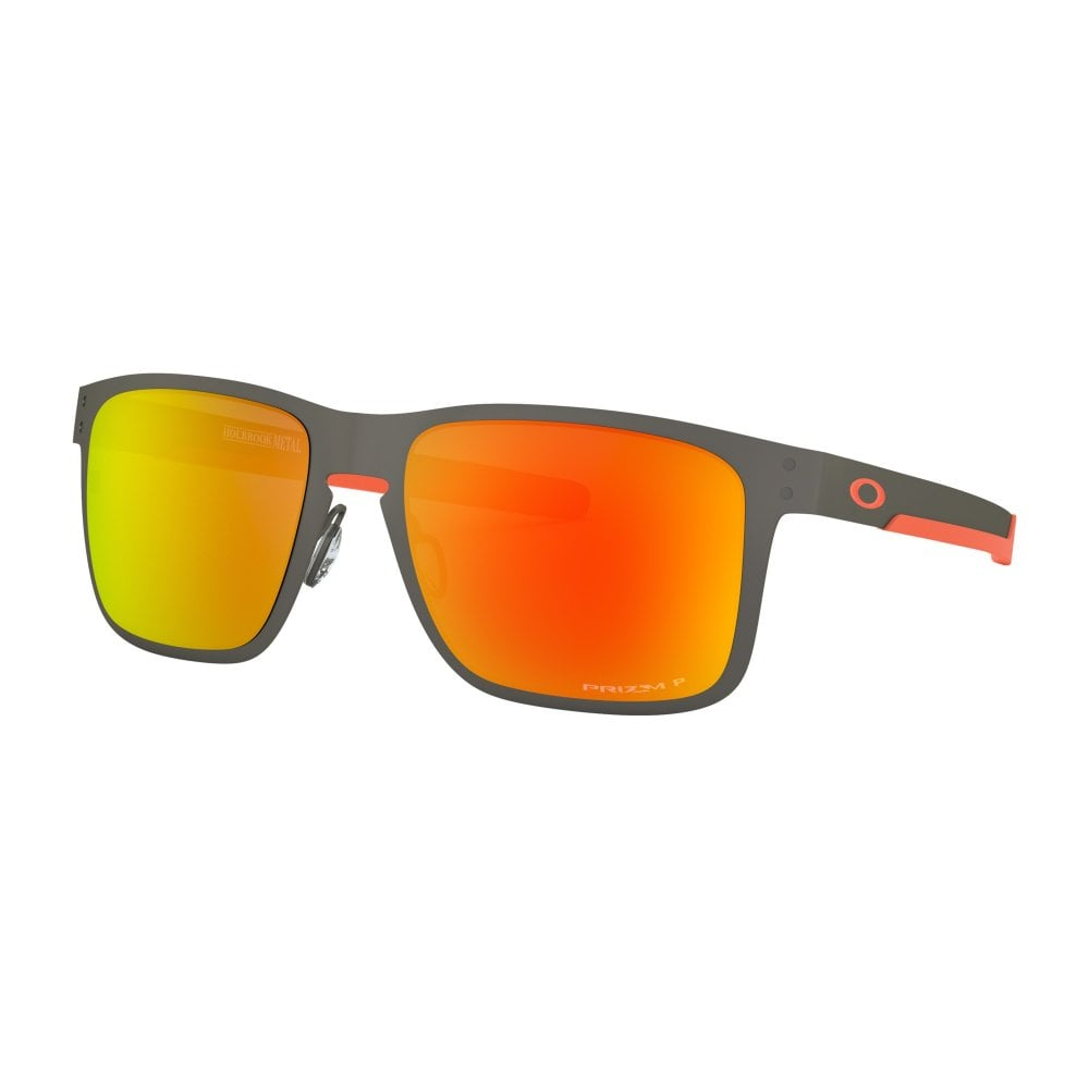 6767c5e49c Polarized Oakley Prizm Holbrook Metal Sunglasses Matte Gunmetal OO4123-22
